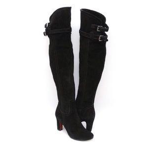 Sam Edelman Black Suede Thigh High Boots
